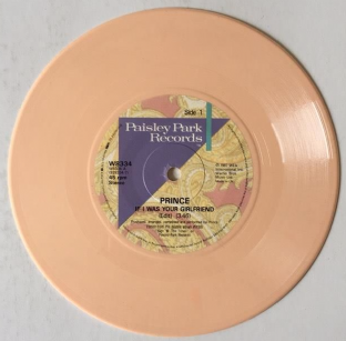 "Prince ‎- If I Was Your Girlfriend (7"") (Peach Vinyl) (EX/NM)"